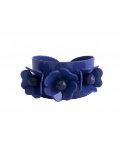 brazalete 3 flores azulon