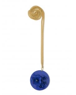 collar medallón fleurs