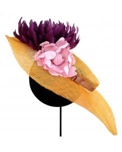 Pamela- canotier con flores