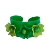 Brazalete 3 flores verde