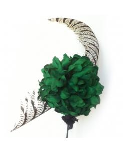 crisantemo esmeralda y pluma