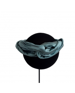 Turbante azul metalizado