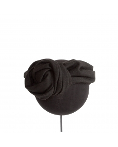 turbante lana negro