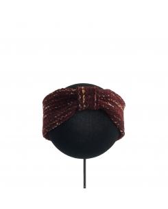 turbante de lana granate